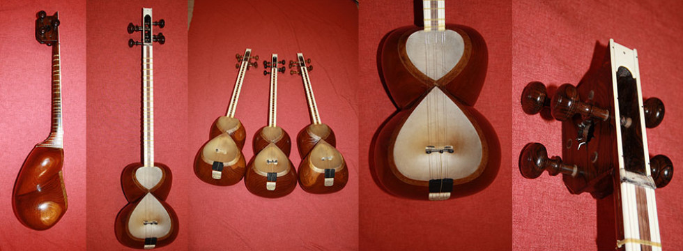 Tar handle and tuning pegs